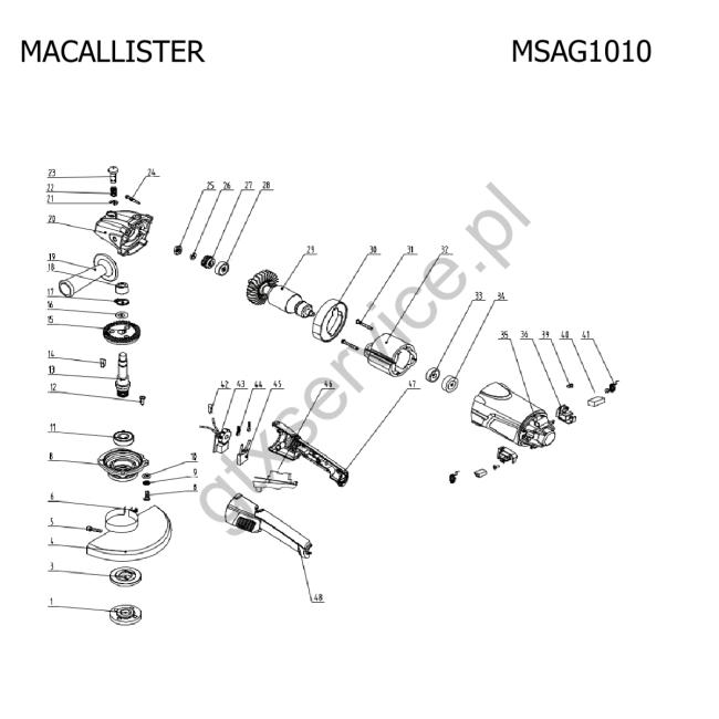 Angle grinder - MACALLISTER                        MSAG1010